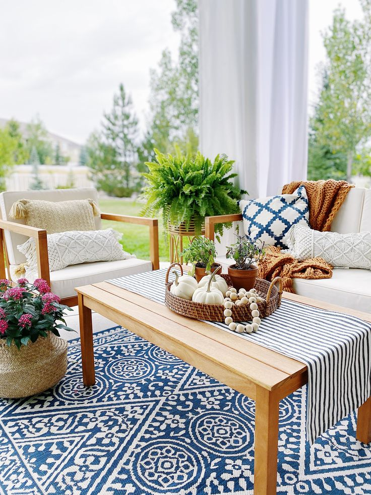 Decorating for Fall with Blue