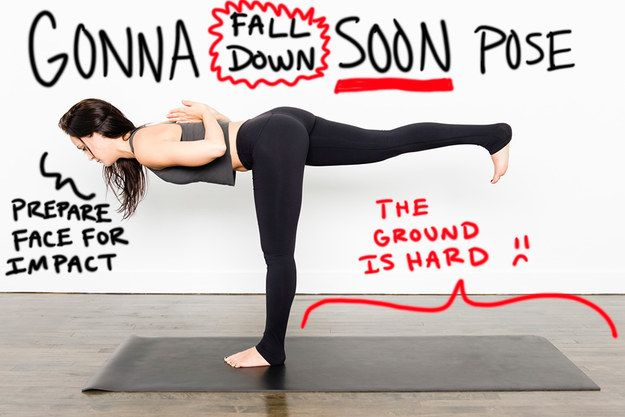 Instead of Warrior III… | 11 Slightly More Accurate Names For Yoga Poses