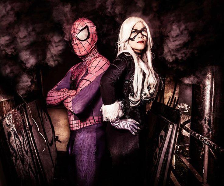 Black Cat and Spider Man Cosplay by karollhell https://www.facebook.com/karollvianacosplay #cosplay #blackcat #marvel #spiderman