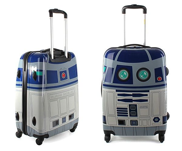 Honeymoon in style with this R2-D2 rolling suitcase. (This *is* the bag you're looking for!)