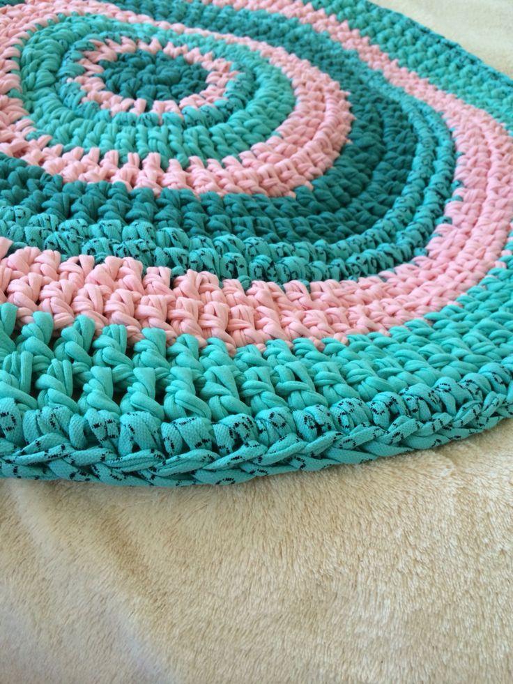 Crochet rug 50cm  30€