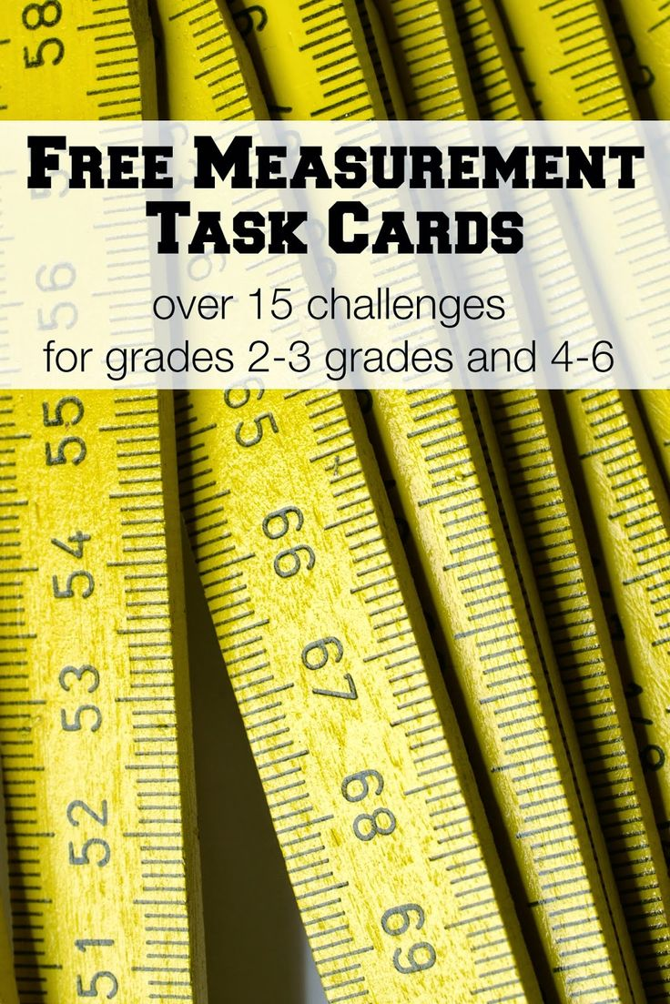 I started off making a set of free task cards for upper elementary, but then I decided that the younger set should have some too, so now there is something for almost everyone! Not only that, both of these sets are correlated with Common Core Standards. For Grades 2-3 To complete these cards, your students will be measuring things around your classroom. Before they measure,