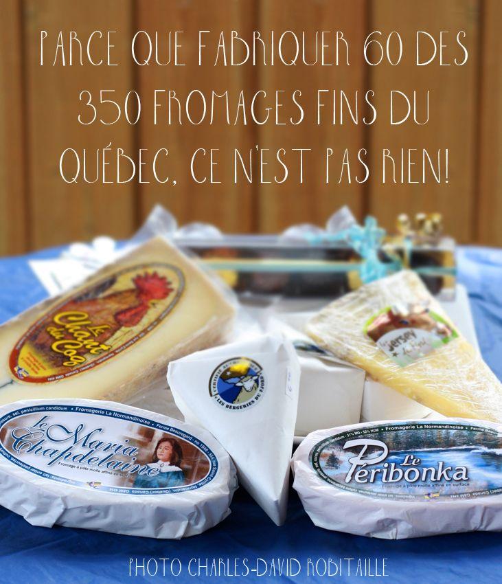 Raison #144 de visiter le Saguenay-Lac-Saint-Jean. Parce que fabriquer 60 des 350 #fromages fins du Québec. Ce n'est pas rien ! #175raisons #Saguenay_Lac