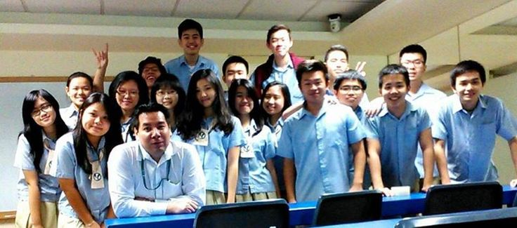 With UPH College graduating class grade 12, April 2015