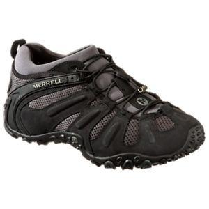 Merrell Chameleon Prime Stretch Hiking Shoes for Men - Black Slate - Medium  - 10.5