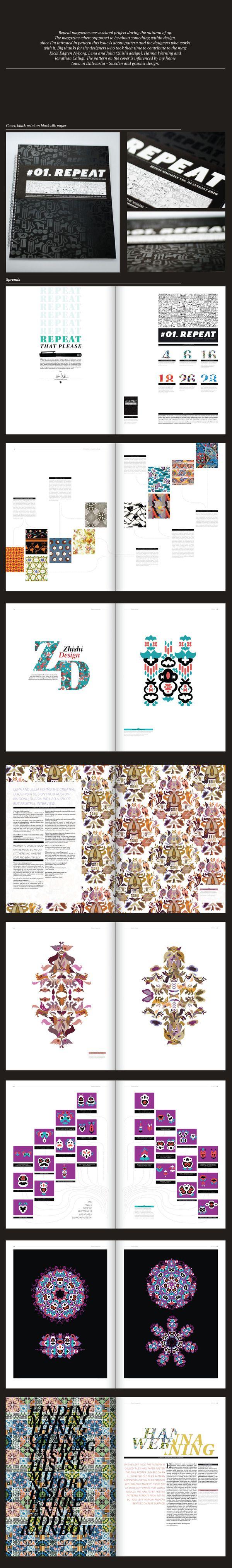 Repeat magazine by Moa Nordahl, via Behance