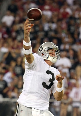 25 Things We Learned After the Raiders' 2 First Preseason Games - The Bad: Carson Palmer Still Throwing to the Wrong Team