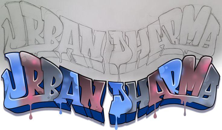 Custom Graffiti Illustration for a non-profit org. Urban Dharma.