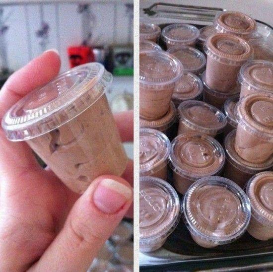 White Russian Pudding Shots