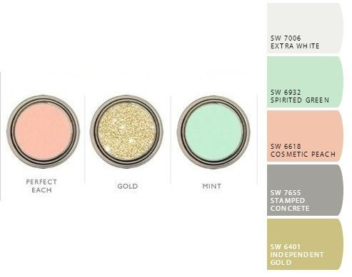 grey, clean white, gold, metallic gold, and mint color palette - Google Search