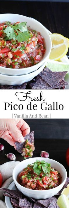 Fresh and delicious, this Pico de Gallo pairs well with any Mexican or Southwestern dish. It's fabulous simply as a dip and perfect when tomatoes are at their freshest!