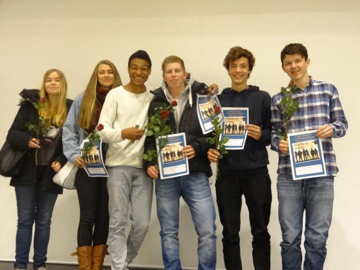 Vinnere av Publikumsprisen under årets camp i sosialt entreprenørskap: SeniorIT. Gratulerer til Sunniva, Kirsti, Robin, Didrik, Benjamin og Thomas!