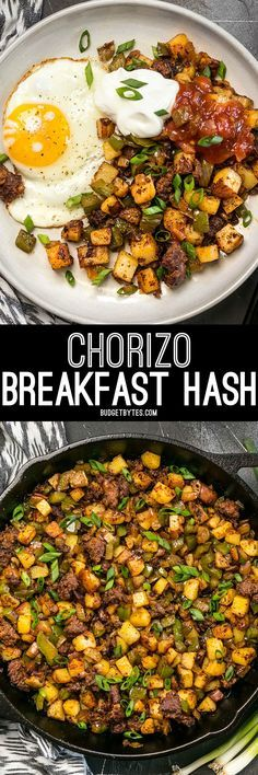 "This simple but tasty Chorizo Breakfast Hash is a breakfast classic. Perfect for your lazy weekend brunch, or even ""breakfast for dinner""."