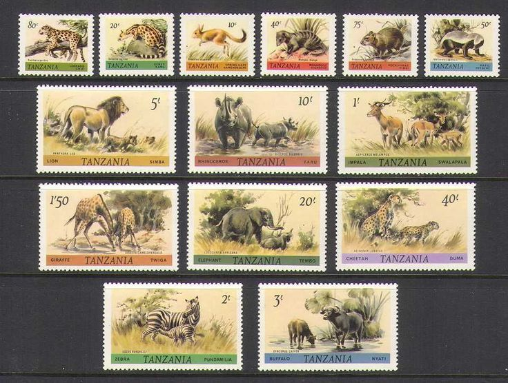 Tanzania 1980 Wildlife Animals Cats 14V Set N20835 | eBay