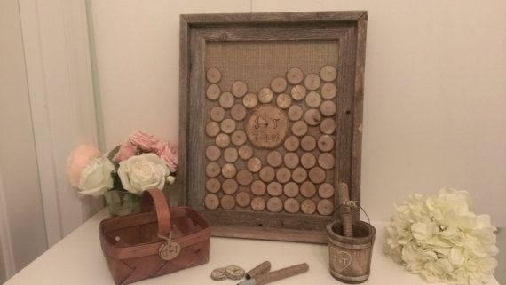 Love this!!! Personalized rustic guest book alternative  by RedHeartCreations, $159.00