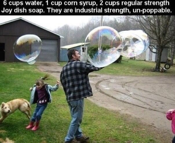 Industrial strength, un-poppable bubbles