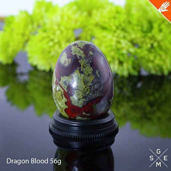 Dragon Blood Stone egg 56g. Natural polishing Crystal egg