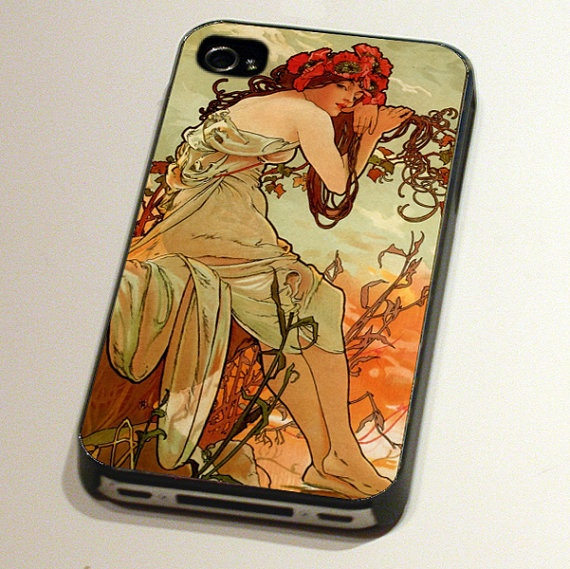 Case for an iPhone4 or 4S - Summer from The Seasons by Alphonse Mucha