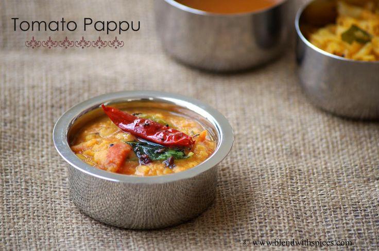Tomato Pappu - Andhra Style Tomato Dal - http://www.blendwithspices.com/2010/05/tomato-pappu-tomato-dal.html
