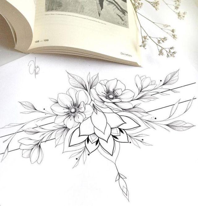 Loses Armband mit Anemonen am Schienbein oder …, #anemonen #armband #loses #sc… – Tattoo vorlagen