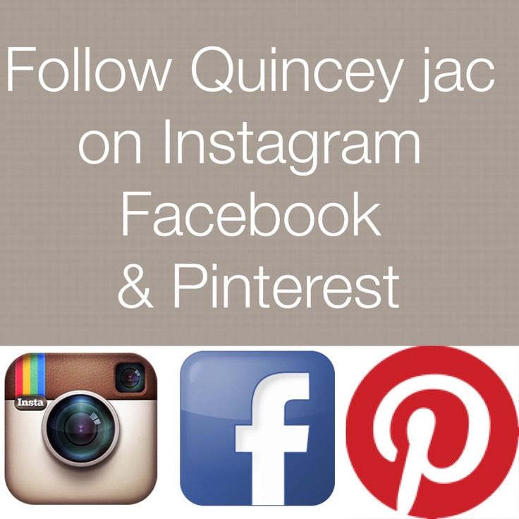 Quincey jac is on Facebook, Instagram & Pinterest. #followQuinceyjac #quinceyjac