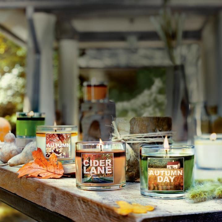 Our NEW Cider Lane Candle Collection is Inspired by changing leaves, days at the pumpkin patch & warm apple cider...♥   #LUVBBW