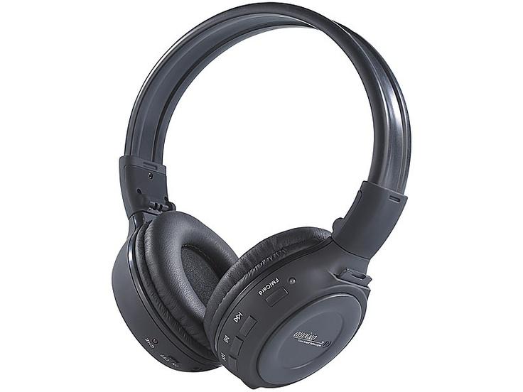 auvisio HiFi-Kopfhörer mit integriertem MP3-Player & Radio