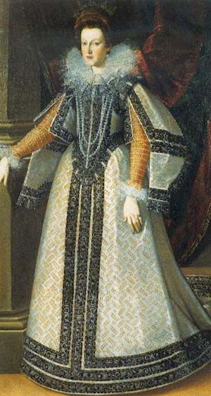 1593-1595 Maria de Medici by Pietro Facchetti (location unknown to gogm) | Grand Ladies | gogm