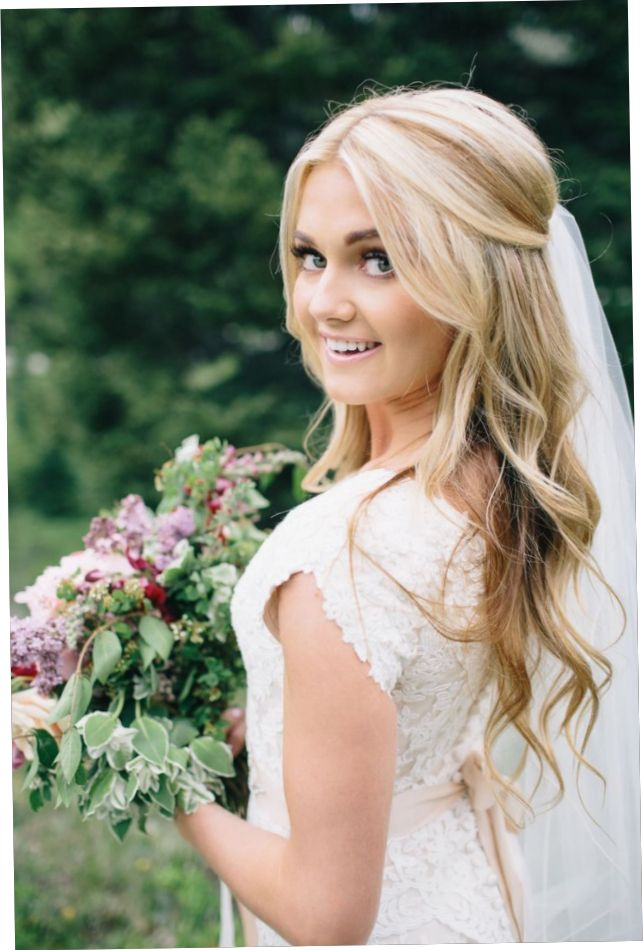 Wedding Hairstyle For Long Hair With Veil Bridal Hair Half Up Bridal Hair Half Up Half Down Best Wedding Hairstyles