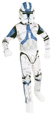 Mit dem Star Wars Clonetrooper Set von Rubie´s kann in die Welt von Star Wars eingetaucht werden.    Mit diesem tollen Kostüm bestehend aus Anzug und Maske sind die Kids bestens für jede Kostümparty und jeden Verkleidespaß gerüstet.
