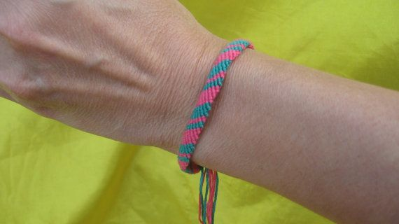 Green and Pink Alternating Stripes Friendship by SaxophoneChick, $4.00