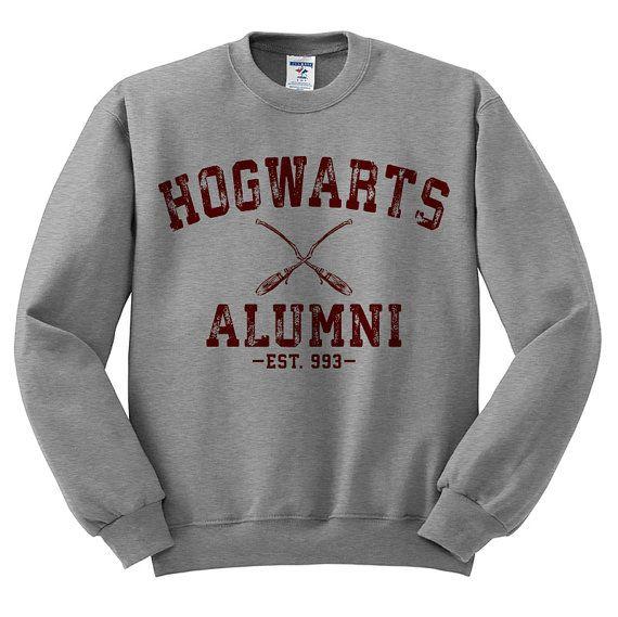 Hogwarts Alumni (Maroon Ink) Harry Potter Sweater, Funny Quidditch Shirt, Hogwarts Letter Shirt, Funny Harry Potter, Hogwarts School Shirt