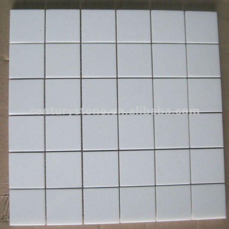 de color blanco puro nano de vidrio mosaico de azulejos de la