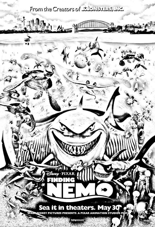 Coloriage film Le monde de Nemo de Disney / Pixar