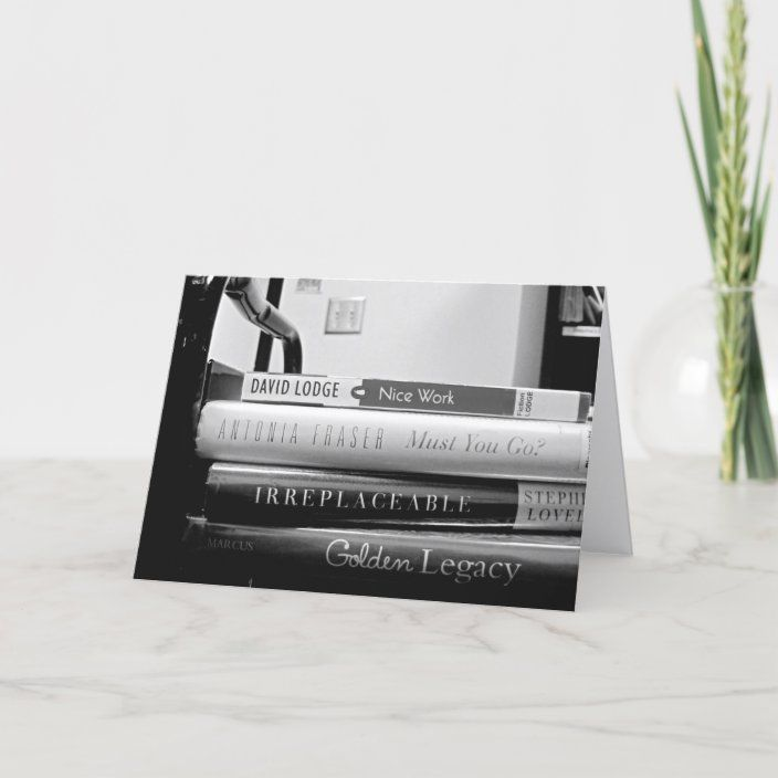 Book Truck Librarian Retirement Farewell Card Zazzle Com Farewell Cards Custom Greeting Cards Cards