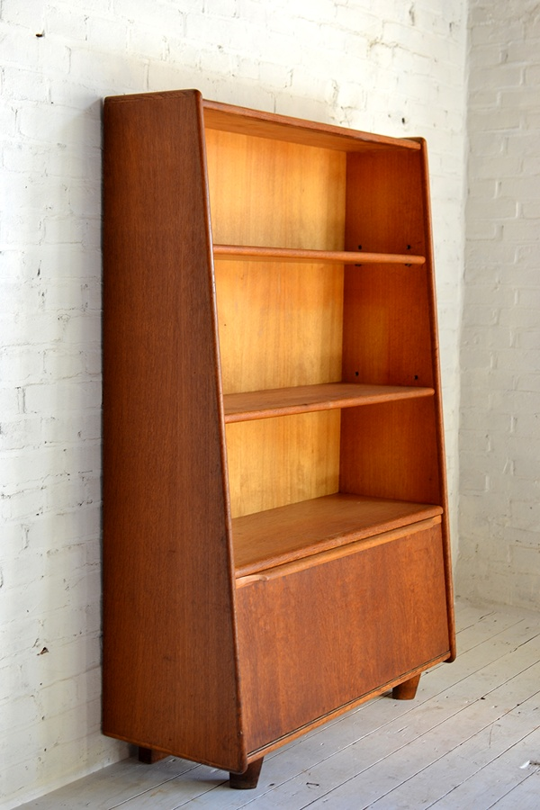 Cees Braakman; Wooden Bookcase for Pastoe, 1950s.