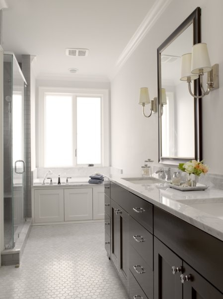 74 best images about powder room reno on pinterest herringbone sarah richardson and for Floor vanity mirror