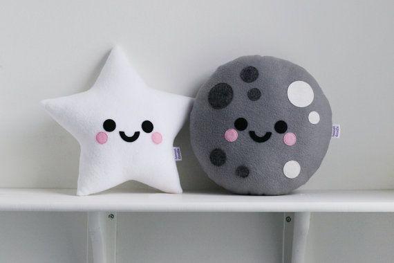 White Star Cushion Fleece Pillow Space Accessory от hannahdoodle
