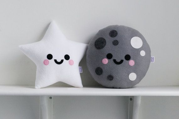White Star Cushion Fleece Pillow Space Accessory от hannahdoodle