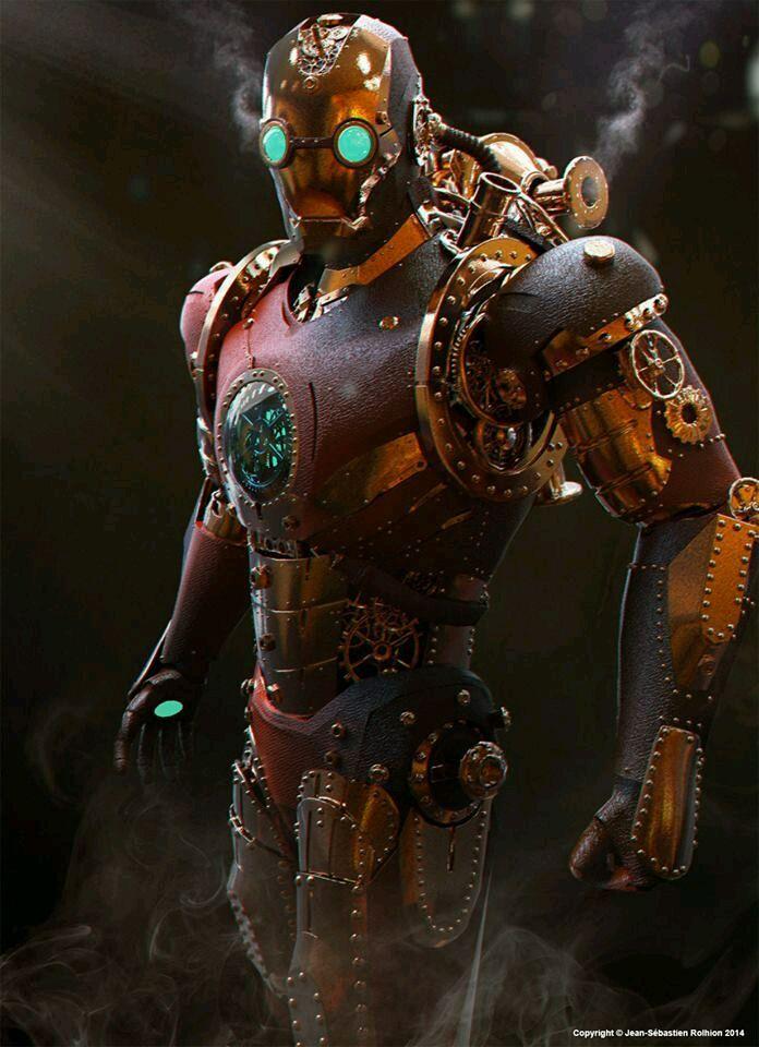 Steampunk Iron Man By Jean-Sébastien Rolhion (Tony Stark Industries / Marvel/ Avengers)