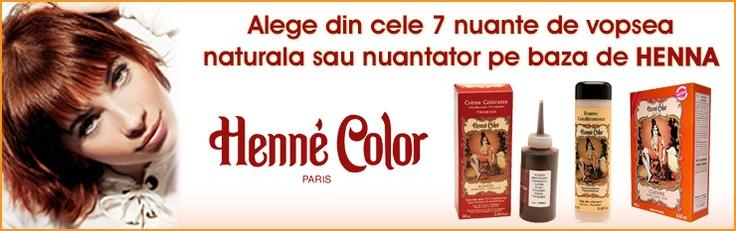 Vopsea de par 100% naturala cu henna.Henne Color Paris