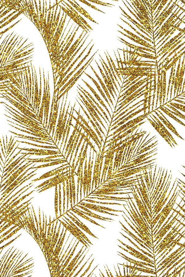 Be A Pineapple Quote Wallpaper Gold Glitter Palm Leaves By Mirabelleprint Glitter Palm