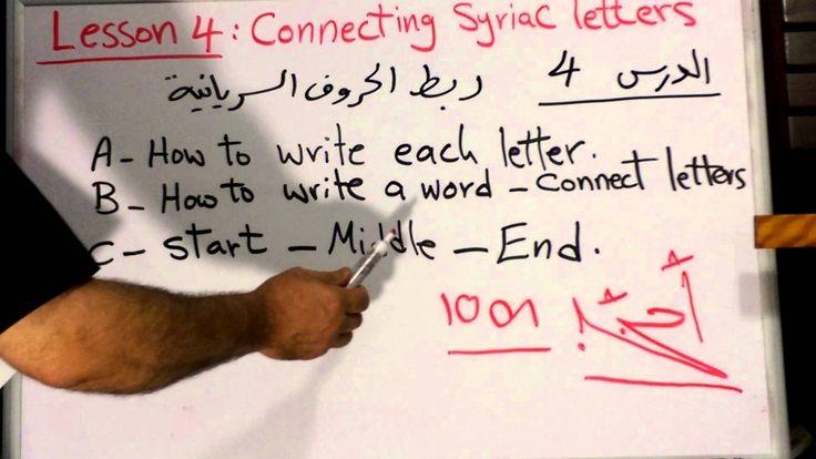 Syriac Language Lesson 4 with Fr. George Al-Banna