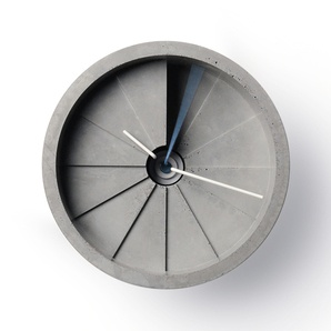 Concrete Wall Clock by boxcarorange