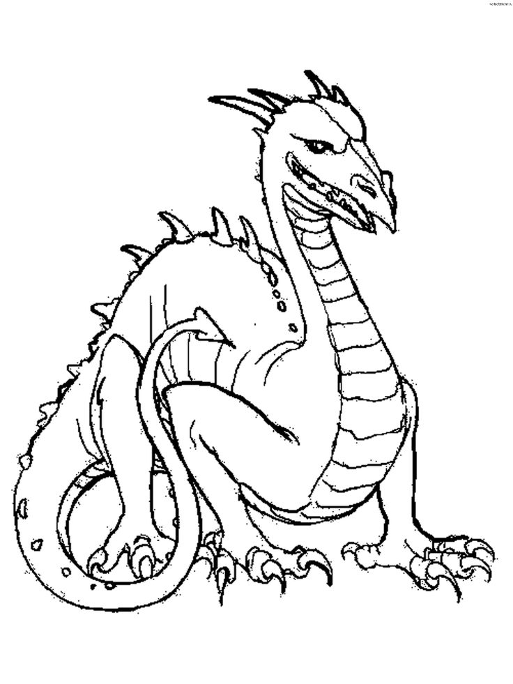 33 best Dragon Color Pages images on Pinterest  Coloring books