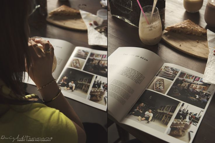 www.facebook.com/DwightTannerPhotography  coffee, magazine, iced coffee, coffee shop, toasted sandwhich