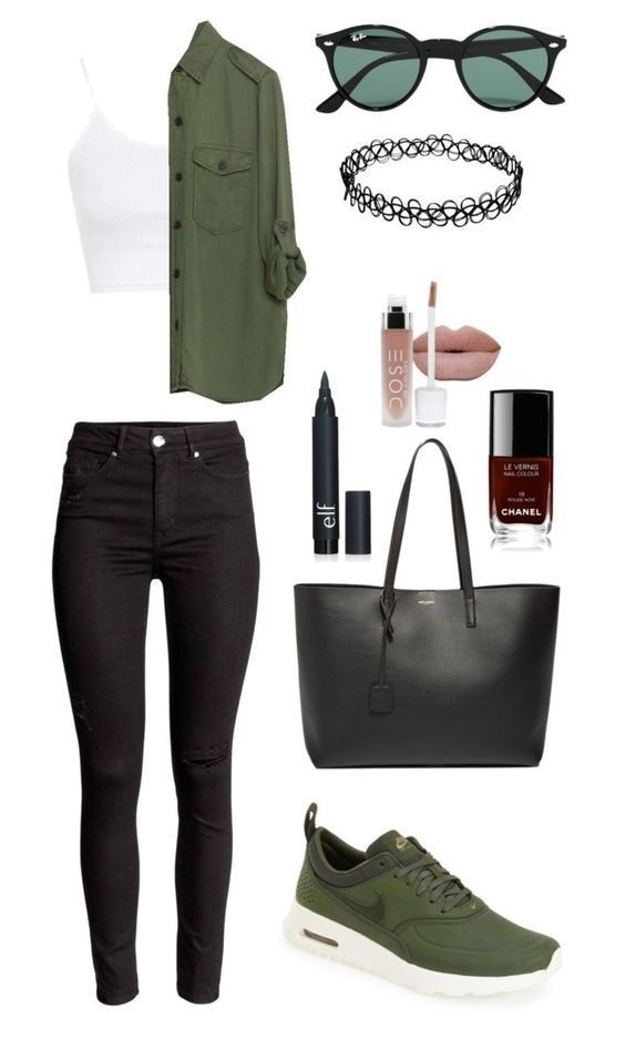 Not untitled by krys-imvu on Polyvore featuring NIKE, Topshop, Zara, Ray-Ban, Yv…