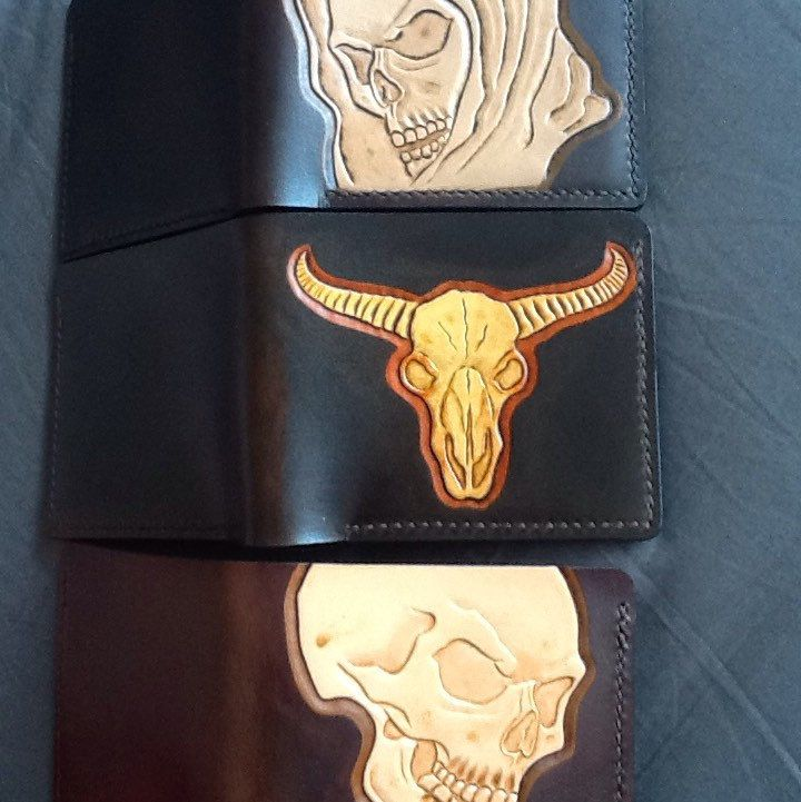 The small wallet collection available at the Proper Leather Studio