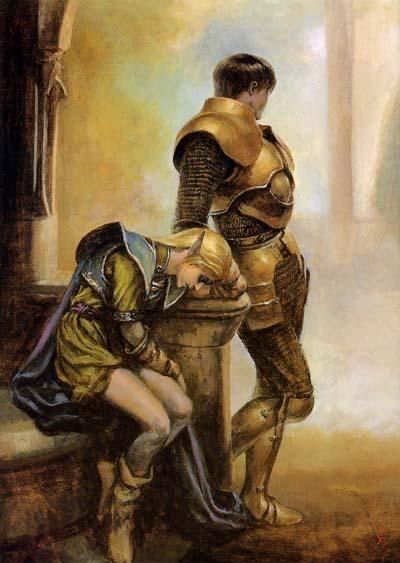 Record of Lodoss War Deedlit the high elf Parn the knight