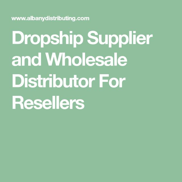 dropship supplier and wholesale distributor for resellers